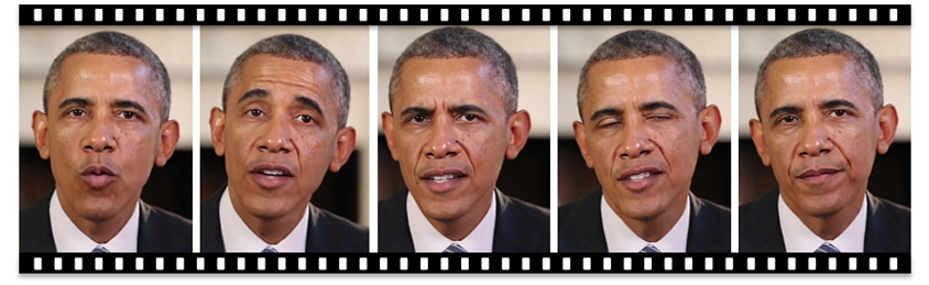 GAN을 통해 합성한 오바마 전 미국 대통령의 연설 영상