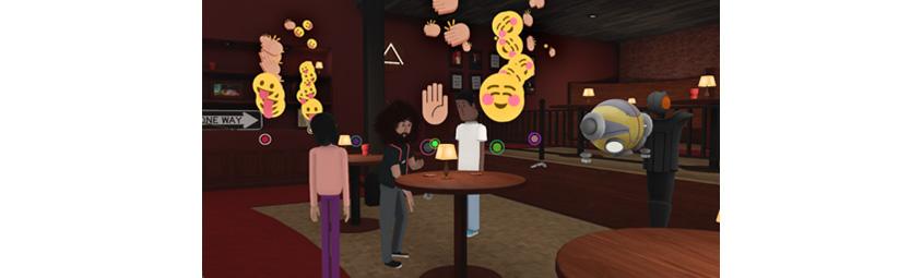 알트스페이스 VR, Reggie Watts 쇼의 한 장면