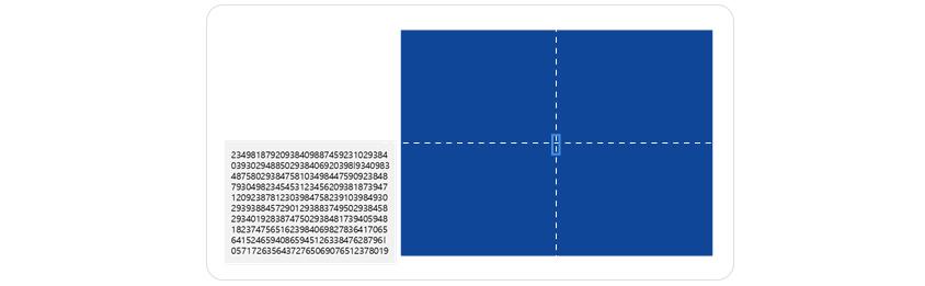 영지식 증명 직관적 예제, 왼쪽 숫자열 중 하나의 소문자 l을 빨리 찾는 게임을 생각해봅시다. A가 먼저 찾아서 B에게 찾을 곳을 알려주면 B는 자신도 이미 알고 있었다고 주장할 수 있습니다. 어떻게 하면 l의 구체적인 위치는 알려주지 않고 l을 찾았다는 사실만 확인시킬 수 있을까요? 정답은 그림 2의 오른쪽 그림과 같이 가로, 세로 2배의 큰 종이를 준비해 가운데 구멍을 뚫어 문제의 숫자열을 덮어 l을 보여주는 것입니다. 이로부터 비밀정보 (l의 위치)는 유출없이 비밀을 소유하고 있다는 것 (l의 발견)을 증명할 수 있게 됩니다.