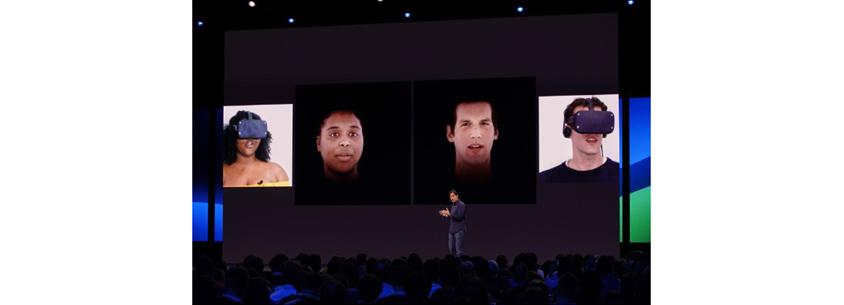 페이스북 VR Research: Photorealistic Face Tracked Avatars 발표 장면