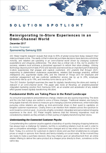 Reinvigorating in-store experiences in an omni-channel world