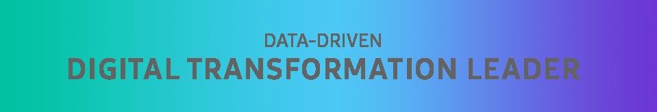 Data Driven digital transformation laeader