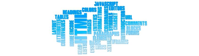 html, tables, heading, javascript등 여러가지 아이티기술 글자가 잔뜩 나열되어있는 이미지