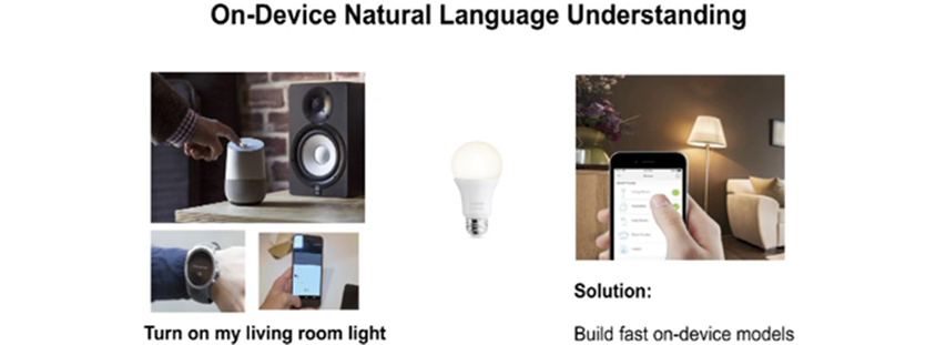 On-device natural Language Understanding - 스마트기기를 통해 불을 켜는 그림