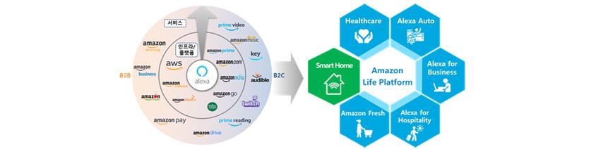 Amazon Life Platform - Healthcare, Alexa Auto, Alexa for Business, Alexa for Hospitality, Amazon Fresh, Smart Home