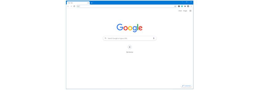 구글 메인홈에서 검색창이 있음