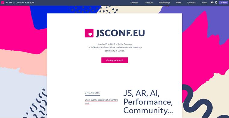 JavaScript 최고의 콘퍼런스' JSConf'