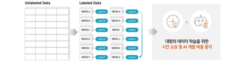 대량의 데이터 학습을 위한 시간 소요 및 AI 개발 비용 증가