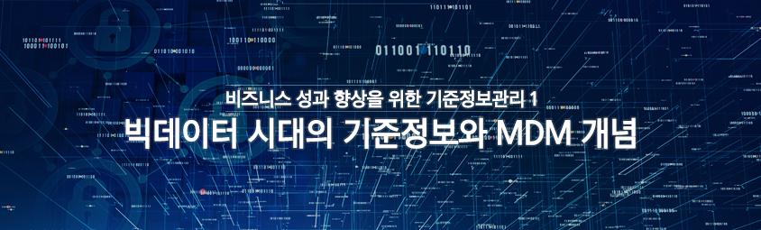 비즈니스 성과 향상을 위한 기준정보관리1 - 빅데이터 시대의 기준정보와 MDM 개념