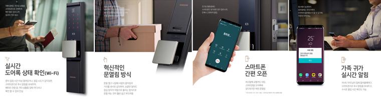 Wi-Fi 일체형 IoT 스마트 도어록: SHP-DR900(한국), SHP-DR708(중국)