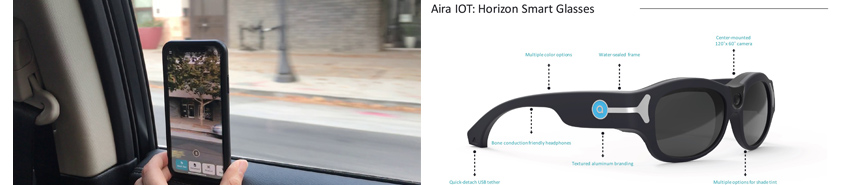 Aira가 현재 앱 형태의 솔루션을 Mobile GPU의 발전과 Battery의 효율화에 힘입어 궁극적으로는 Smart glass 형태의 device로 개발단계