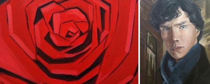 장미꽃, 베네딕트 컴버배치 그림