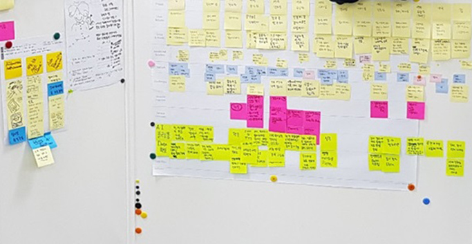 Customer Journey Map 활용 모습