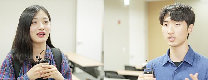 스터디에 참가한 권현경 학생과 손회연 학생