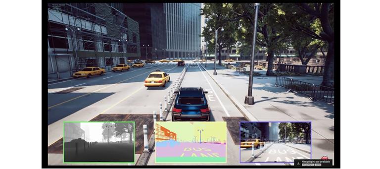 AirSim은 다양한 카메라 뷰와 Lidar 등 센서 정보 제공
