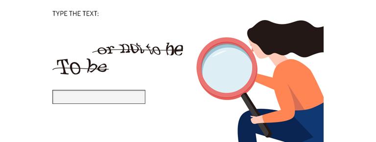 가장 일반적인 방식의 TEXT CAPTCHA