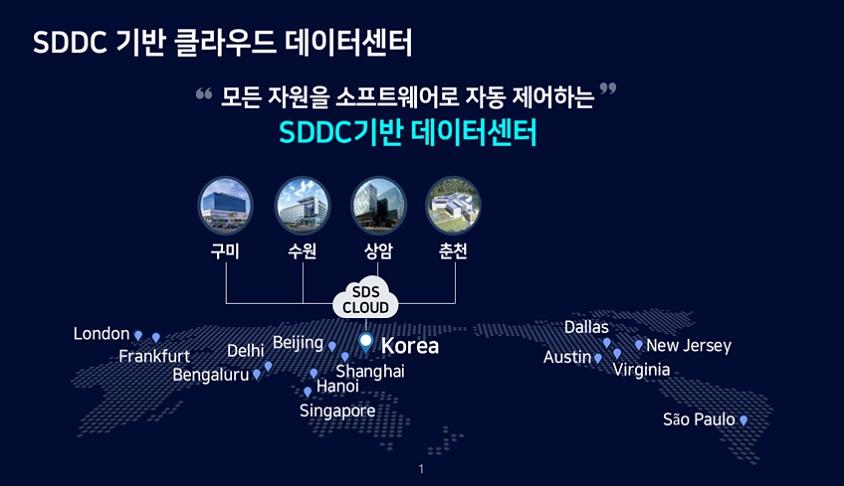 삼성SDS 글로벌 클라우드 데이터센터
