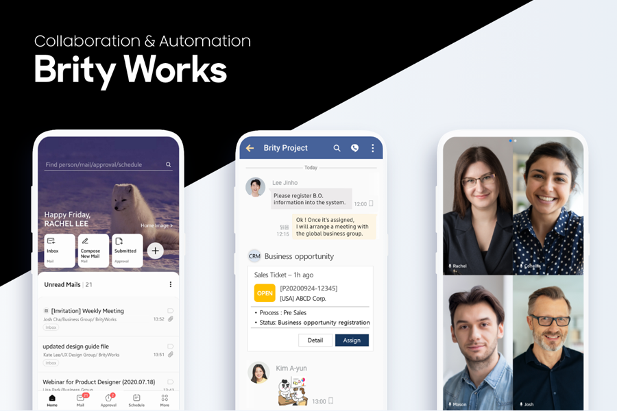 Colaboração ininterrupta e conectada com o Brity Works da Samsung SDS