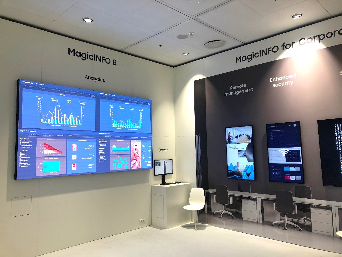 Samsung SDS recently participated in the world's largest exhibition for AV and systems integration, introducing the MagicINFO Analytics Solution.