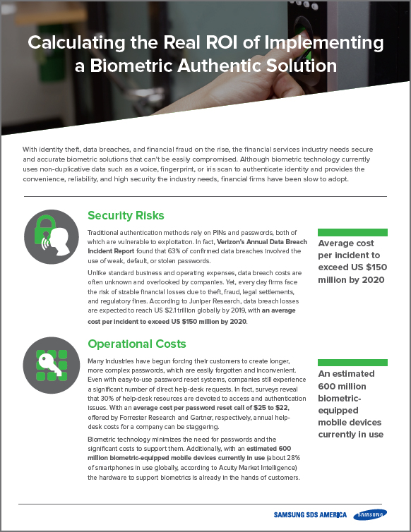Calculating the Real ROI of Implementing a Biometric Authentication Solution