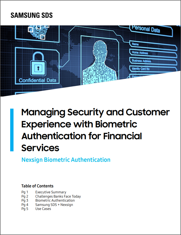 Managing Security and Customer Experience with Biometric Authentication for Financial Services